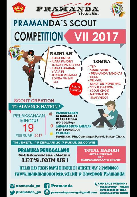 PRAMANDA SCOUT COMPETITION VII (PSC) 2017