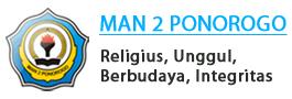 MAN 2 Ponorogo. Religius, Unggul, Berbudaya, Integritas.