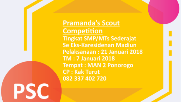 "PSC VIII ""PRAMANDA'S SCOUT COMPETITION VIII 2018"""
