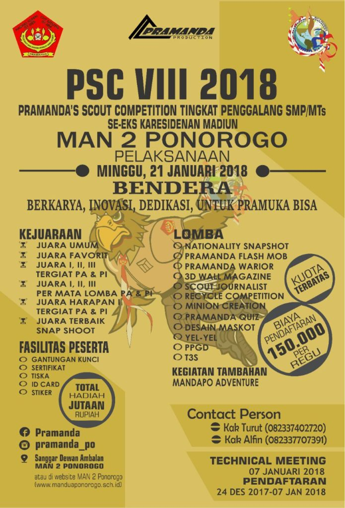 PSC VIII PRAMANDA'S SCOUT COMPETITION VIII 2018