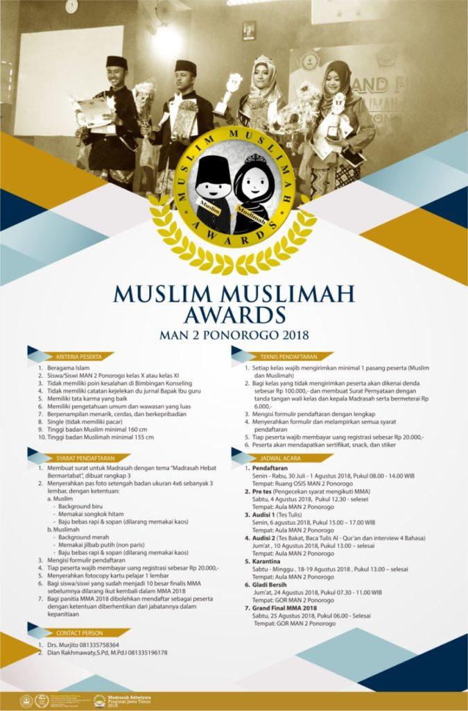 Muslim Muslimah Awards MAN 2 Ponorogo 2018