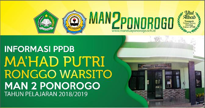 Informasi PPDB Ma'had Puteri Ronggo Warsito